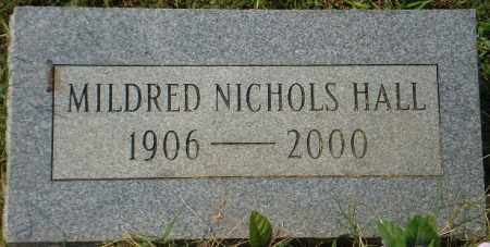 NICHOLS HALL, MILDRED - White County, Arkansas | MILDRED NICHOLS HALL - Arkansas Gravestone Photos
