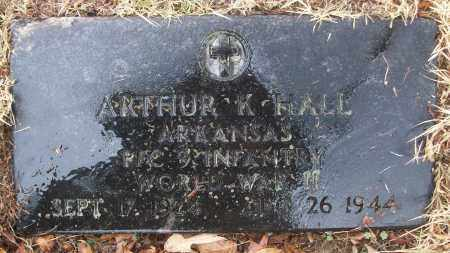 HALL (VETERAN WWII), ARTHUR K - White County, Arkansas | ARTHUR K HALL (VETERAN WWII) - Arkansas Gravestone Photos