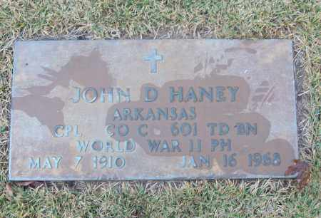 HANEY  (VETERAN WWII), JOHN D - White County, Arkansas | JOHN D HANEY  (VETERAN WWII) - Arkansas Gravestone Photos