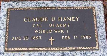 HANEY (VETERAN WWI), CLAUDE U - White County, Arkansas | CLAUDE U HANEY (VETERAN WWI) - Arkansas Gravestone Photos