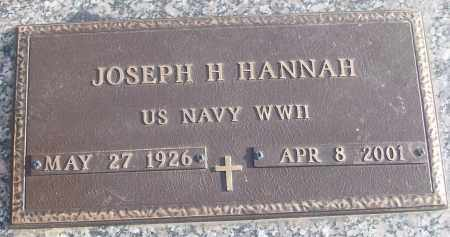 HANNAH (VETERAN WWII), JOSEPH H - White County, Arkansas | JOSEPH H HANNAH (VETERAN WWII) - Arkansas Gravestone Photos