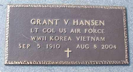 HANSEN (VETERAN 3 WARS), GRANT V - White County, Arkansas | GRANT V HANSEN (VETERAN 3 WARS) - Arkansas Gravestone Photos