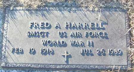 HARRELL (VETERAN WWII), FRED A - White County, Arkansas | FRED A HARRELL (VETERAN WWII) - Arkansas Gravestone Photos