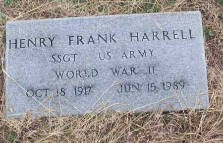 HARRELL (VETERAN WWII), HENRY FRANK - White County, Arkansas | HENRY FRANK HARRELL (VETERAN WWII) - Arkansas Gravestone Photos