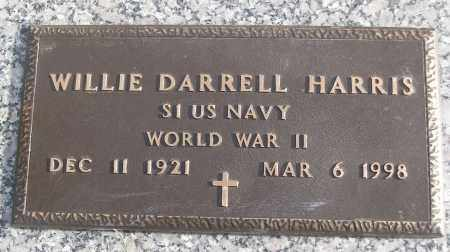 HARRIS (VETERAN WWII), WILLIE DARRELL - White County, Arkansas | WILLIE DARRELL HARRIS (VETERAN WWII) - Arkansas Gravestone Photos