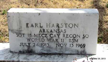 HARSTON (VETERAN WWII), EARL - White County, Arkansas | EARL HARSTON (VETERAN WWII) - Arkansas Gravestone Photos