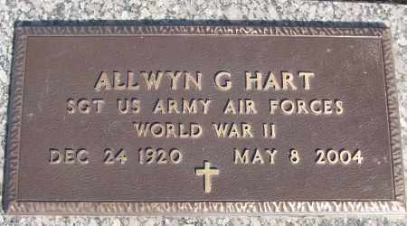 HART (VETERAN WWII), ALLWYN G - White County, Arkansas | ALLWYN G HART (VETERAN WWII) - Arkansas Gravestone Photos