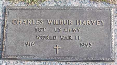 HARVEY (VETERAN WWII), CHARLES WILBUR - White County, Arkansas | CHARLES WILBUR HARVEY (VETERAN WWII) - Arkansas Gravestone Photos
