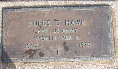 HAWK (VETERAN WWII), RUFUS E - White County, Arkansas | RUFUS E HAWK (VETERAN WWII) - Arkansas Gravestone Photos