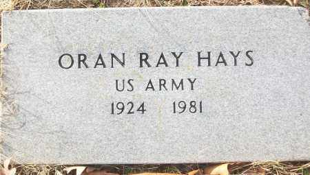 HAYS (VETERAN), ORAN RAY - White County, Arkansas | ORAN RAY HAYS (VETERAN) - Arkansas Gravestone Photos
