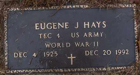 HAYS (VETERAN WWII), EUGENE J - White County, Arkansas | EUGENE J HAYS (VETERAN WWII) - Arkansas Gravestone Photos