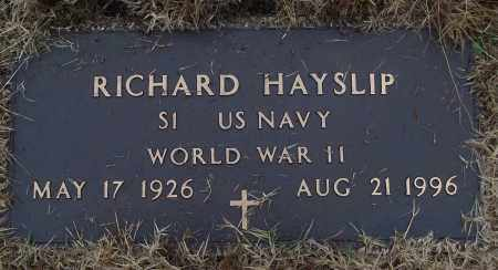 HAYSLIP (VETERAN WWII), RICHARD - White County, Arkansas | RICHARD HAYSLIP (VETERAN WWII) - Arkansas Gravestone Photos