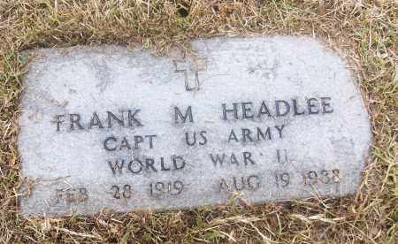 HEADLEE  (VETERAN WWII), FRANK M - White County, Arkansas | FRANK M HEADLEE  (VETERAN WWII) - Arkansas Gravestone Photos