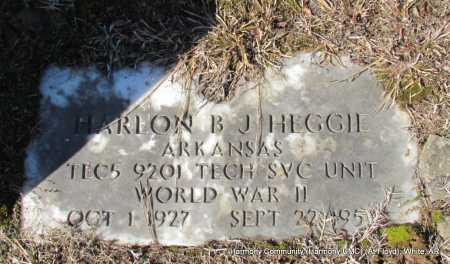 HEGGIE (VETERAN WWII), HARLON B J - White County, Arkansas | HARLON B J HEGGIE (VETERAN WWII) - Arkansas Gravestone Photos