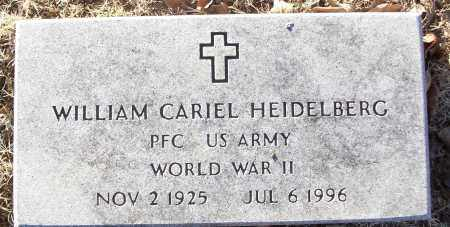 HEIDELBERG (VETERAN WWII), WILLIAM CARIEL - White County, Arkansas | WILLIAM CARIEL HEIDELBERG (VETERAN WWII) - Arkansas Gravestone Photos