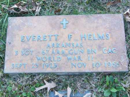 HELMS (VETERAN WWII), EVERETT F - White County, Arkansas | EVERETT F HELMS (VETERAN WWII) - Arkansas Gravestone Photos