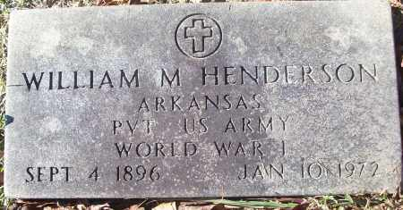 HENDERSON (VETERAN WWI), WILLIAM M - White County, Arkansas   WILLIAM M HENDERSON (VETERAN WWI) - Arkansas Gravestone Photos