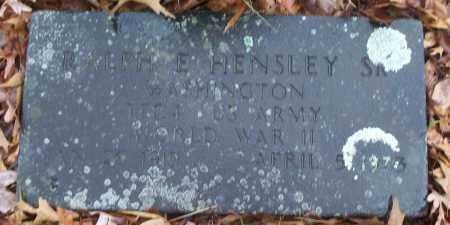 HENSLEY, SR (VETERAN WWII), RALPH E - White County, Arkansas | RALPH E HENSLEY, SR (VETERAN WWII) - Arkansas Gravestone Photos