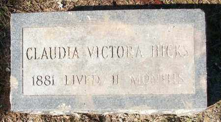 HICKS, CLAUDIA VICTORA - White County, Arkansas | CLAUDIA VICTORA HICKS - Arkansas Gravestone Photos