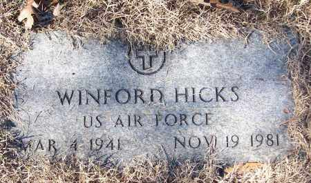 HICKS (VETERAN), WINFORD - White County, Arkansas | WINFORD HICKS (VETERAN) - Arkansas Gravestone Photos