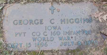 HIGGINS (VETERAN WWI), GEORGE C - White County, Arkansas | GEORGE C HIGGINS (VETERAN WWI) - Arkansas Gravestone Photos