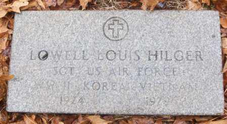 HILGER (VETERAN 3 WARS), LOWELL LOUIS - White County, Arkansas | LOWELL LOUIS HILGER (VETERAN 3 WARS) - Arkansas Gravestone Photos