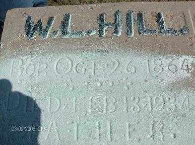 HILL, WILLIAM LAFAYETTE - White County, Arkansas | WILLIAM LAFAYETTE HILL - Arkansas Gravestone Photos