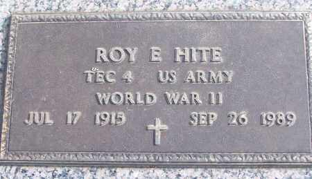 HITE (VETERAN WWII), ROY E - White County, Arkansas | ROY E HITE (VETERAN WWII) - Arkansas Gravestone Photos