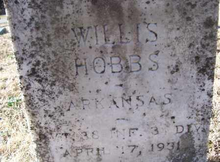 HOBBS (VETERAN), WILLIS - White County, Arkansas | WILLIS HOBBS (VETERAN) - Arkansas Gravestone Photos