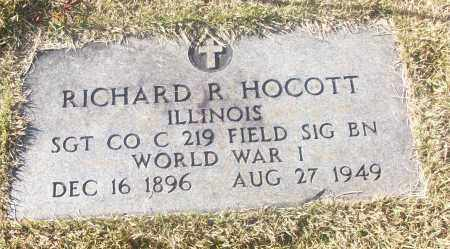 HOCOTT  (VETERAN WWI), RICHARD R - White County, Arkansas | RICHARD R HOCOTT  (VETERAN WWI) - Arkansas Gravestone Photos