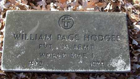 HODGES (VETERAN WWI), WILLIAM PAGE - White County, Arkansas | WILLIAM PAGE HODGES (VETERAN WWI) - Arkansas Gravestone Photos