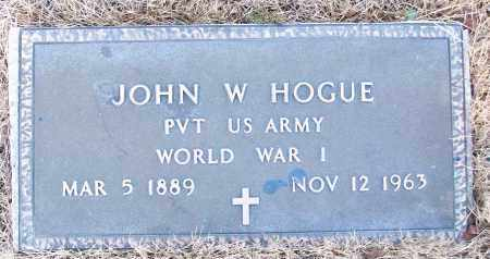 HOGUE (VETERAN WWI), JOHN W - White County, Arkansas | JOHN W HOGUE (VETERAN WWI) - Arkansas Gravestone Photos