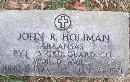 HOLIMAN (VETERAN WWI), JOHN R - White County, Arkansas | JOHN R HOLIMAN (VETERAN WWI) - Arkansas Gravestone Photos