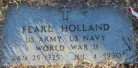 HOLLAND (VETERAN WWII), FEARL - White County, Arkansas | FEARL HOLLAND (VETERAN WWII) - Arkansas Gravestone Photos