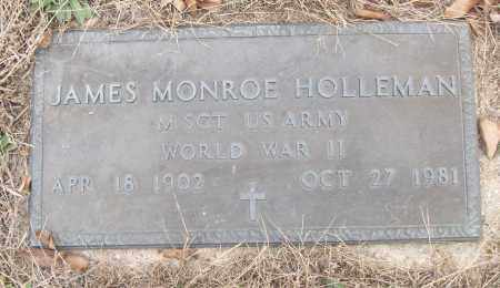 HOLLEMAN (VETERAN WWII), JAMES MONROE - White County, Arkansas | JAMES MONROE HOLLEMAN (VETERAN WWII) - Arkansas Gravestone Photos