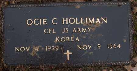 HOLLIMAN (VETERAN KOR), OCIE C - White County, Arkansas | OCIE C HOLLIMAN (VETERAN KOR) - Arkansas Gravestone Photos