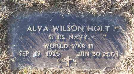 HOLT (VETERAN WWII), ALVA  WILSON - White County, Arkansas | ALVA  WILSON HOLT (VETERAN WWII) - Arkansas Gravestone Photos