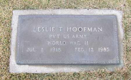 HOOFMAN  (VETERAN WWII), LESLIE T - White County, Arkansas | LESLIE T HOOFMAN  (VETERAN WWII) - Arkansas Gravestone Photos