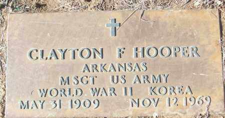 HOOPER (VETERAN 2 WARS), CLAYTON F - White County, Arkansas | CLAYTON F HOOPER (VETERAN 2 WARS) - Arkansas Gravestone Photos