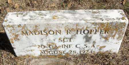 HOPPER (VETERAN CSA), MADISON R - White County, Arkansas | MADISON R HOPPER (VETERAN CSA) - Arkansas Gravestone Photos