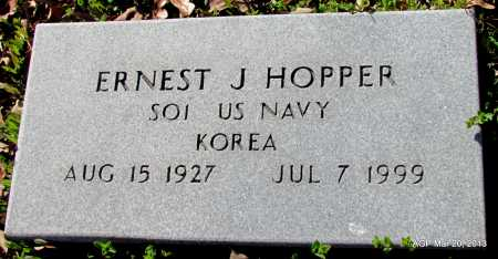 HOPPER (VETERAN KOR), ERNEST J - White County, Arkansas | ERNEST J HOPPER (VETERAN KOR) - Arkansas Gravestone Photos