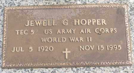 HOPPER (VETERAN WWII), JEWELL G - White County, Arkansas | JEWELL G HOPPER (VETERAN WWII) - Arkansas Gravestone Photos