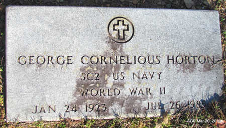 HORTON (VETERAN WWII), GEORGE CORNELIOUS - White County, Arkansas | GEORGE CORNELIOUS HORTON (VETERAN WWII) - Arkansas Gravestone Photos
