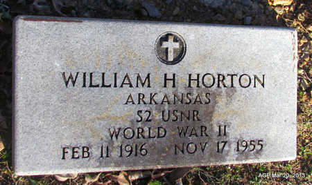 HORTON (VETERAN WWII), WILLIAM H - White County, Arkansas | WILLIAM H HORTON (VETERAN WWII) - Arkansas Gravestone Photos