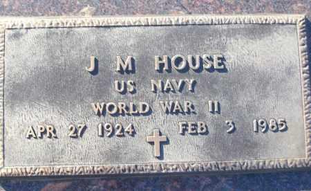 HOUSE (VETERAN WWII), J M - White County, Arkansas | J M HOUSE (VETERAN WWII) - Arkansas Gravestone Photos