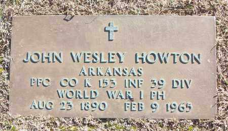 HOWTON (VETERAN WWI), JOHN WESLEY - White County, Arkansas | JOHN WESLEY HOWTON (VETERAN WWI) - Arkansas Gravestone Photos