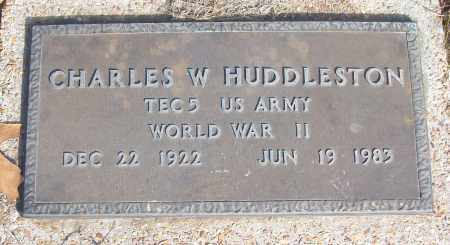 HUDDLESTON (VETERAN WWII), CHARLES W - White County, Arkansas | CHARLES W HUDDLESTON (VETERAN WWII) - Arkansas Gravestone Photos