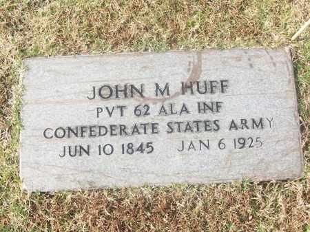 HUFF  (VETERAN CSA), JOHN M - White County, Arkansas | JOHN M HUFF  (VETERAN CSA) - Arkansas Gravestone Photos