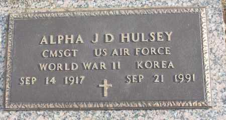 HULSEY (VETERAN 2 WARS), ALPHA J D - White County, Arkansas | ALPHA J D HULSEY (VETERAN 2 WARS) - Arkansas Gravestone Photos