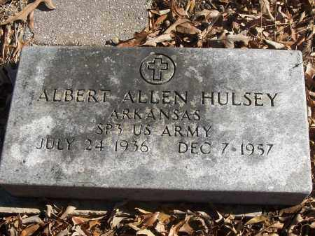 HULSEY (VETERAN), ALBERT ALLEN - White County, Arkansas | ALBERT ALLEN HULSEY (VETERAN) - Arkansas Gravestone Photos